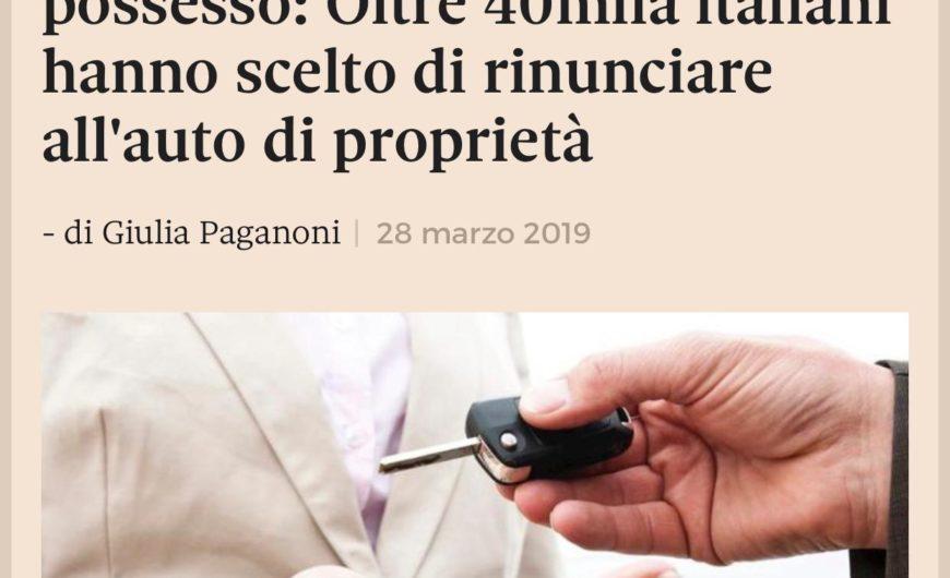 Auto più noleggio meno possesso